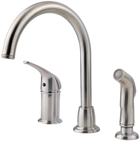 Pfister 1 Handle 3 Hole High Arc Kitchen Faucet